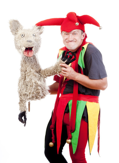 jester with a puppet